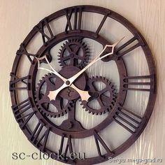 """Деревянные настенные часы """"London-2"""" - украшения из дерева, дизайнерские часы…"""
