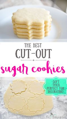The best Sugar Cookie Cut Outs are soft, thick, sinfully buttery and taste amazing whether they are decorated or not! Make easy sugar cookie cut outs that keep their shape & edges. This is a no-chill recipe! Cookies decorated PERFECT SUGAR COOKIE CUT OUTS Sugar Cookie Recipe Easy, Soft Sugar Cookies, Easy Cookie Recipes, Baking Recipes, Best Sugar Cookie Recipe For Decorating, Professional Sugar Cookie Recipe, Best Tasting Sugar Cookie Recipe, Best Cutout Cookie Recipe, Sugar Cookie Dough