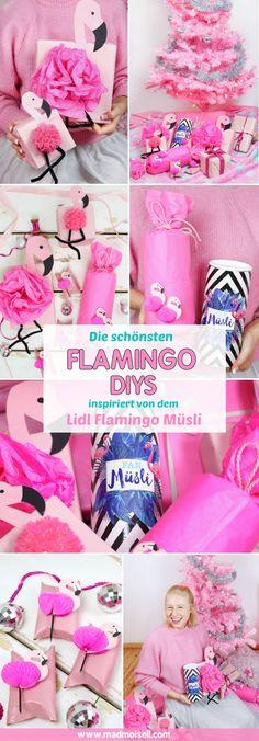 Werbung: Die schönsten DIY Flamingo Geschenkverpackung inspiriert vom Lidl Flamingo-Fan-Müsli basteln – Geschenke kreativ verpacken als Flamingo. Besonders zu Weihnachten macht es Spaß, Geschenke mal richtig ausgefallen zu verpacken – wie wär's als Flamingo? Auf meinem DIY Blog zeige ich dir drei ausgefallene Flamingo Geschenk Verpackungen.
