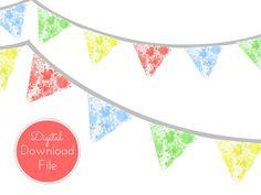 Splash Art Party Banner, Pennant, Garland, Decorations for Baby Shower, Birthday Party, Bridal Shower, Wedding Decoration banner
