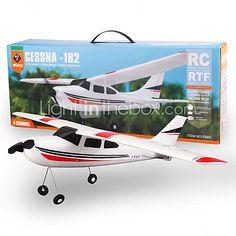 WLtoys F949 2,4g 3ch Cessna 182 micro avion rc BnF sans émetteur - EUR €48.99