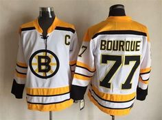 Boston Bruins #77 Ray Bourque 1971-1972 Thowback White CCM