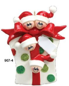 Family+of+4+gift+box+with+ribbon++Hand+by+TreasuredOrnaments,+$12.95
