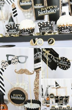 Adult Birthday Party Supplies - Black and Gold Party Theme For Any Age!
