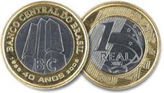 Moeda de um real alusiva aos 40 anos do Banco Central 2005