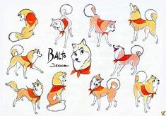 Living Lines Library: Balto (1995) - Characters, Model Sheets