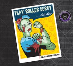Roller Derby Sticker.We can do it Zombie. by blacksheepclothing, $3.00
