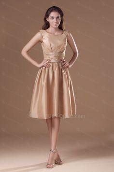Taffeta Scoop Knee Length A-line Cocktail Dress - Focus Vogue