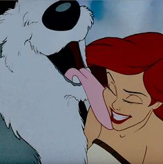Puppy kisses from Max to Ariel from Walt Disney's The Little Mermaid!