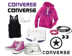 """Converse Outfit"" by nikus55 ❤ liked on Polyvore"