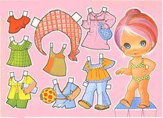 Muñecas recortables para niñas. Imprimir muñecas de papel actividades para niñas