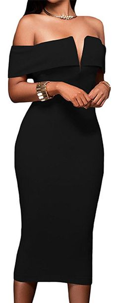 online shopping for AlvaQ Women s Sexy V Neck Off The Shoulder Evening  Bodycon Club Midi Dress from top store. See new offer for AlvaQ Women s  Sexy V Neck ... d024ba809c07
