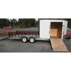 7 x 20 Enclosed / Utility Motorcycle Lawn Mower Cargo Trailer Jon Boat Trailer, Lawn Trailer, Hunting Trailer, Welding Trailer, Work Trailer, Cargo Trailer Camper, Trailer Plans, Trailer Build, Cargo Trailers