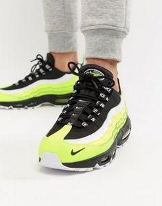 0446fbffb3f Nike Air Max 95 Premium Trainers In Green 538416-701