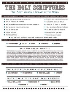 The Holy Scriptures Handout.