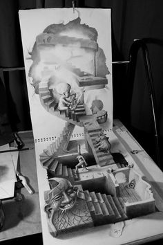 Amazing 3D pencil drawing