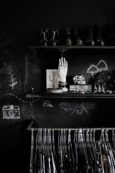BEDROOM INTERIOR - BLACK DIY - EBAY TIP