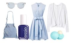 """""""Baby Blue"""" by helloimlilly on Polyvore featuring Rebecca Taylor, Chicwish, Emma Fox, Essie, Sun Buddies and River Island"""
