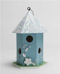 Martha Stewart Crafts™ Hexagon Birdhouse with Metal Flower, large