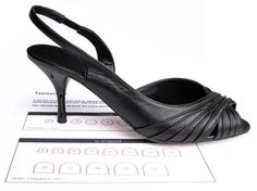 You can find the right size heel tip just by placing your old heel tip on the print out.