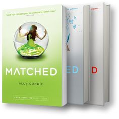Matched by Ally Condie. One of my FAVOURITE dystopian novels.