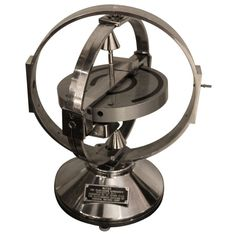 View this item and discover similar for sale at - This is a wonderful polished aluminum giant motorized Gyroscope. Spinning Top, Swatch, Lamps, Interior Decorating, Polish, Classroom, Geek, Japan, Cool Stuff