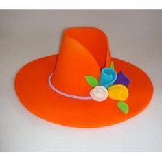 sombrero de goma espuma en color Foam Crafts, Diy And Crafts, Arts And Crafts, Paper Crafts, Diy For Kids, Crafts For Kids, Princess Party Favors, Mermaid Crafts, Funny Hats