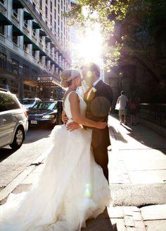 Nice wedding day photo idea! #Boston #wedding #weddingphotography…