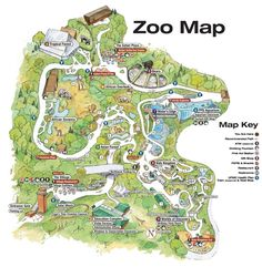 Pittsburgh Zoo & PPG Aquarium- one of the best zoo's I've had the pleasure of visiting. Going to the zoo was how I spent my birthday the month after I moved here. The Zoo, Zoo Map, Visit Pittsburgh, Zoo Architecture, Camping In Pennsylvania, Zoo Project, Parking Design, Map Design, Campus Map