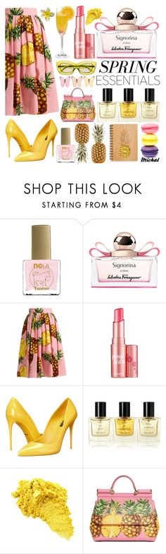 """""""Spring Perfume"""" by michal100-15-4 ❤ liked on Polyvore featuring beauty, ncLA, Salvatore Ferragamo, Dolce&Gabbana, Benefit, Miller Harris, Mimosa, Prada and springperfume"""