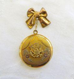 Médaillon militaire WW ll U.S. Army médaillon Sweetheart