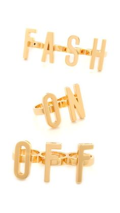 Moschino Fash On/Off Rings