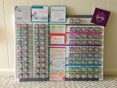 Magnets on small testers, displayed brilliantly on magnetic board. Add round stickers on back of lid to read scents better
