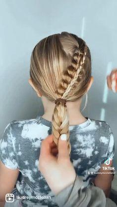 Little Girl Braid Hairstyles, Cute Braided Hairstyles, Cute Girls Hairstyles, Simple Hairstyles For Kids, Hairstyle For Kids, Little Girl Braids, Hairdos, Hair Ponytail Styles, Hair Up Styles