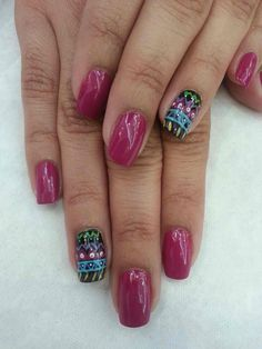 PINK AND COLORFUL PATTERN