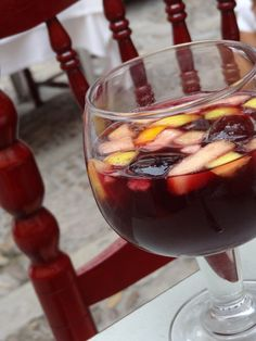 Sangria in Seville, part of the Spanish culture centered around food, drink and relationships