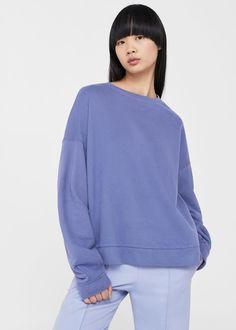 Oversize cotton sweatshirt