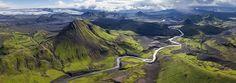 Fjallabak Nature Reserve, Iceland • AirPano.com • 360 Degree Aerial Panorama •