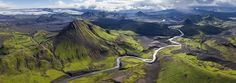 Fjallabak Nature Reserve, Iceland | 360 Degree Aerial Panorama | 3D Virtual Tours Around the World | Photos of the Most Interesting Places on the Earth | AirPano.com