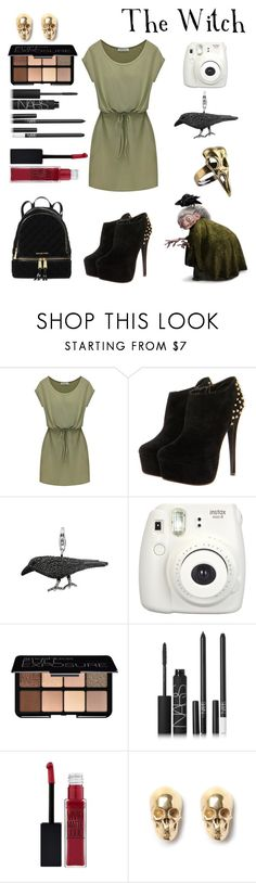 """The Witch"" by crystalgems125 ❤ liked on Polyvore featuring Thomas Sabo, Fujifilm, Smashbox, NARS Cosmetics, Maybelline, LeiVanKash and MICHAEL Michael Kors"