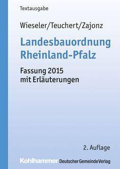 Die Textausgabe zur aktuellen Landesbauordnung Rheinland-Pfalz enthält wichtige Erläuterungen für die praktische Gesetzesanwendung und gibt in einer Einführung einen Überblick über den Stand der bisherigen Gesetzesentwicklung.