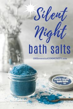Silent Night Bath Salts {for a great night's sleep} <br> Silent Night Bath Salts with gold (orange), frankincense, and myrrh essential oils help you relax and sleep well. Diy Bath Salts With Essential Oils, Myrrh Essential Oil, Diy Craft Projects, Kids Crafts, Sewing Projects, Best Bath Salts, Dyi Bath Salts, Homemade Bath Salts, Easy Homemade Christmas Gifts