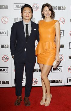 Steven Yeun & Lauren Cohan, The Walking Dead Season 3 Premiere