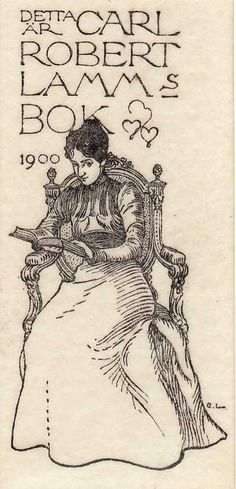 Carl Larsson Bookplates    ---    Bookplate mania