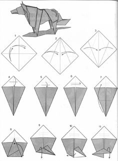 Origami Animals Instructions Wolf