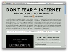 Don't Fear The Internet - basic HTML and CSS for non-web designers