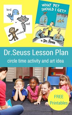 Dr. Seuss Preschool Lesson Plan and Free Printables – What Pet Should I Get?