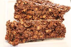 Microwave Chocolate Peanut Butter  Oat Snack Bars