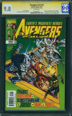 Avengers V3 15 CGC SS 9 8 George Perez Sig Highest 1st App Jonathan Tremont | eBay