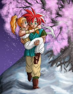 Chrono Trigger - Crono and Marle Chrono Trigger, Video Game Art, Video Games, Chrono Cross, Son Of Neptune, Square Art, Dragon Quest, Video Game Characters, Disney Fan Art
